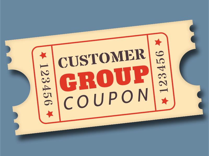 Customer Group Coupon