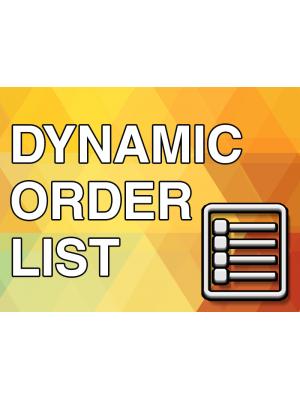 Dynamic Order List