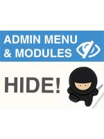 Hide Admin Menu + Modules + Payments + Shipping + MORE