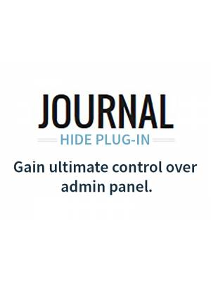 JOURNAL Hide Admin Panel / Menu Plugin