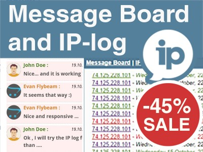 Message Board and IP-Log – Ajax Chat Enhanced