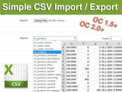 Simple CSV Import / Export, Any Database Table