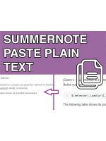 Summernote Paste Plain Text