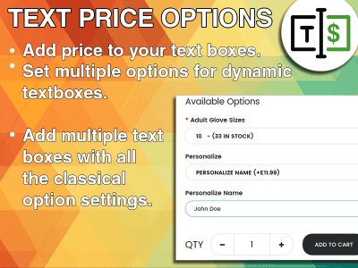Text Price Options