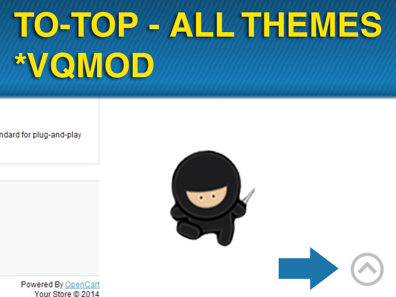 Animated Scroll To Top – All Themes (VQMOD)